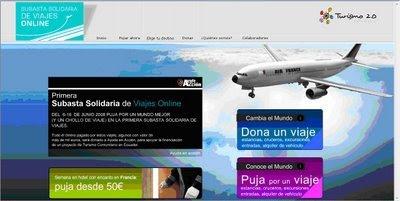 Primera subasta solidaria de viajes on line